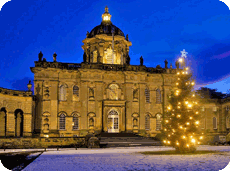 Visit Castle Howard at Christmas, a short drive from York Caravan Park