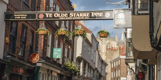 Ye Olde Starre In is one of York city centre's oldest inns