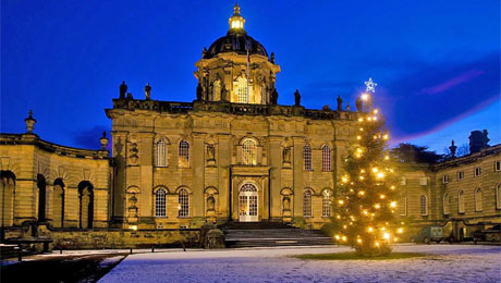 Yorkshire's premier stately home and gardens decorated for Christmas