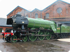 Flying Scotsman returns to steam at York Railway Museum