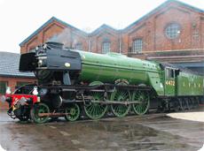 Flying Scotsman returns to steam at York Railway Museum