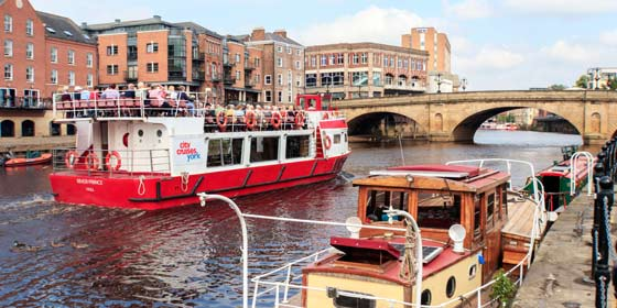 See York's sights from a York Boats River Cruise